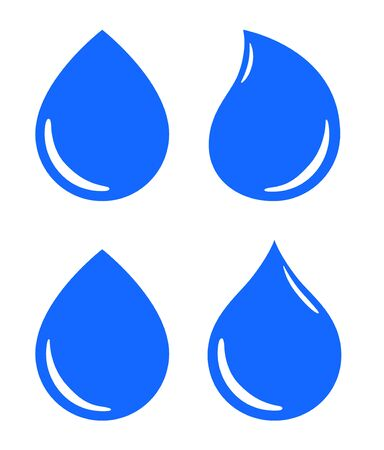 Water drop icon, sign, material 向量圖像