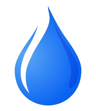 Water drop icon, sign, material, illustration