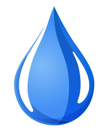 Water drop icon, sign, illustration