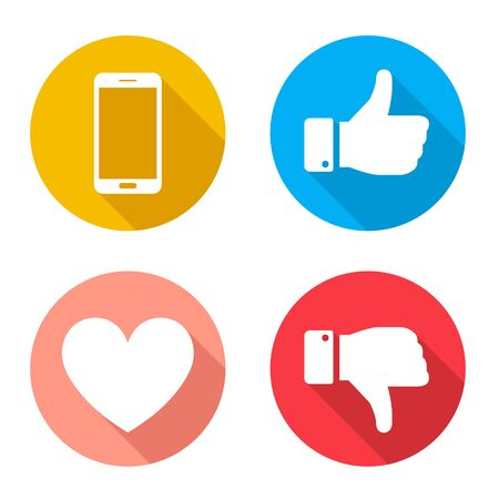 Good Sign, Bad Sign, Heart, Smartphone Icon