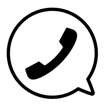Symbol für Telefon und Sprechblase Vektorgrafik