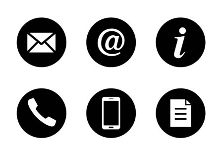 communication business icon material set