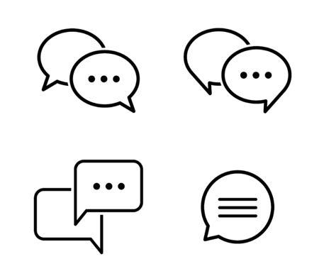 Speech bubble conversation icon set