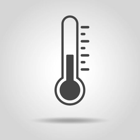 Thermometer and temperature icon material Иллюстрация
