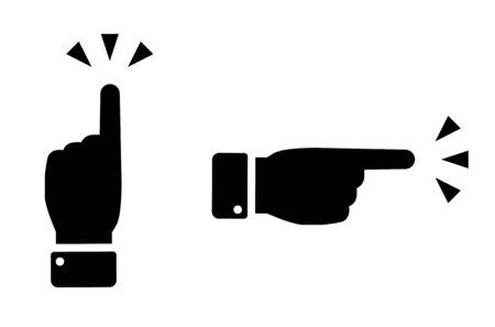 Finger pointing gesture, Sign set Ilustração