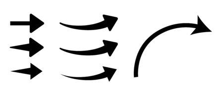 Rising curve arrow icon set Иллюстрация