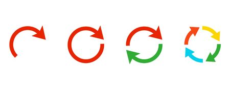 Cycle and curve arrow icon collection Иллюстрация