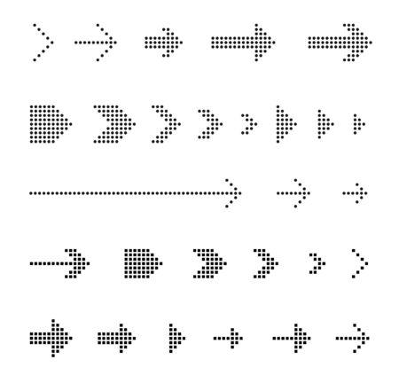 Dot Arrow Vector design icon collection