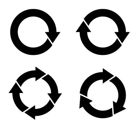 Cycle and flowchart arrow icon collection