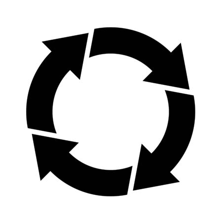 Cycle and flowchart arrow icon 4 divisions
