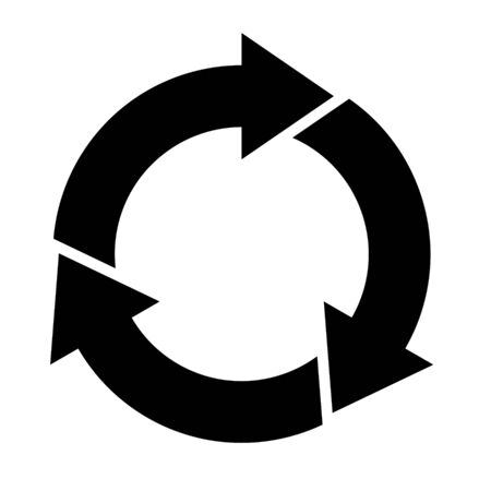Cycle and flowchart arrow icon 3 divisions Illustration