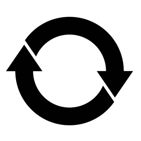 Cycle and flowchart arrow icon 2 divisions Иллюстрация