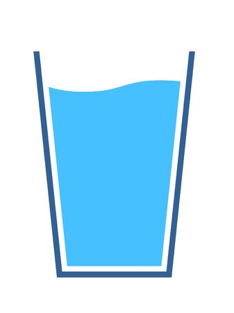 Glass and water icon, illustration