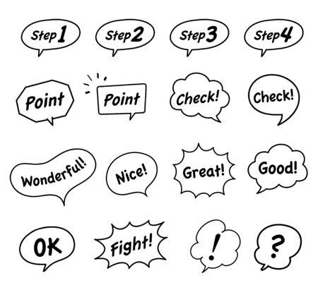 Speech bubble decoration tag set