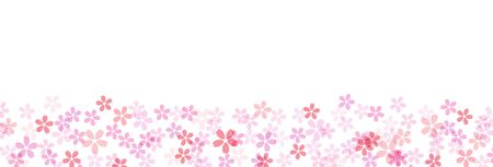 Cherry blossom wide border background material