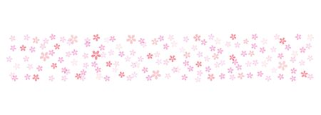 Cherry blossom border background material