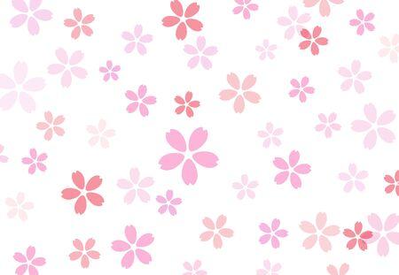 Cherry blossom illustration background material Иллюстрация
