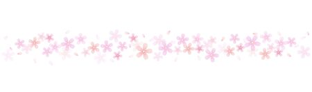 Cherry blossom Decorative line material Иллюстрация
