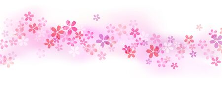 Cherry blossom Pink gradient background material