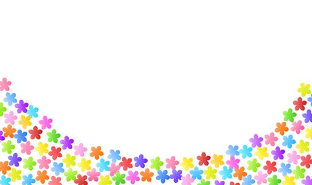 Colorful flower border background material Иллюстрация