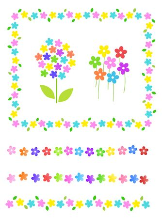Colorful Flower decoration frame and line material