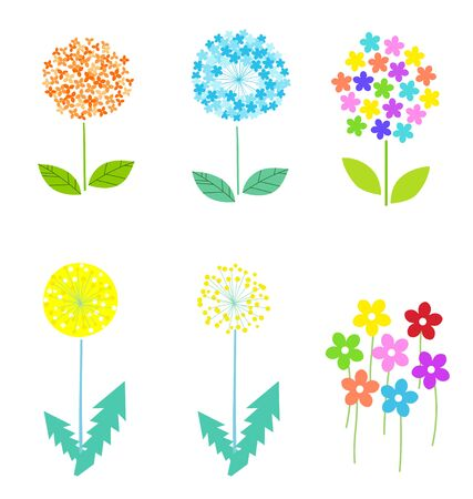 Spring flower design illustration material