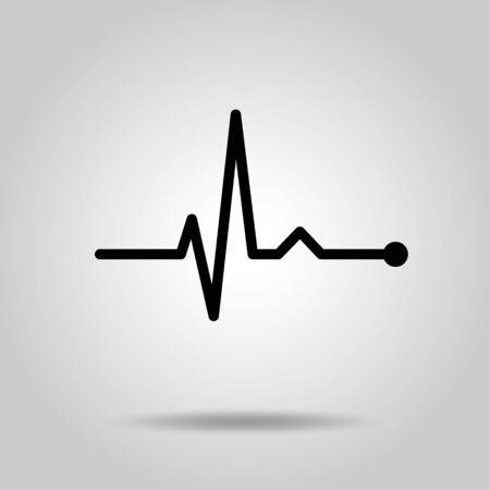 Elektrokardiogramm Linienrhythmus-Illustrationsmaterial Vektorgrafik