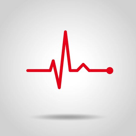 electro-cardiogram Line rhythm illustration material
