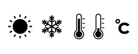 Weather and Temperature icon set