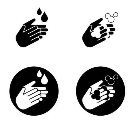Hand wash icon for infection prevention