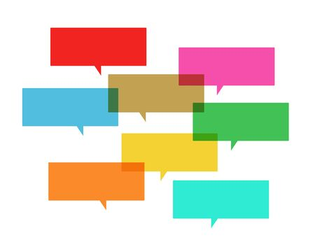 Illustration of colorful speech bubbles Illustration