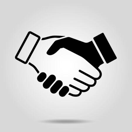 Handshake Illustration material Design icon style