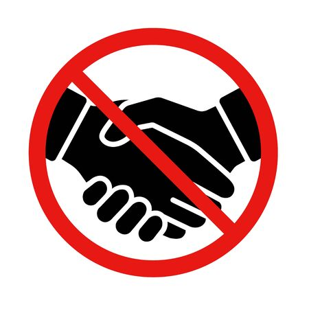 Handshake prohibited vector icon material