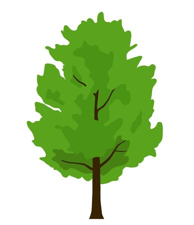 Green Leafy tree illustration material  イラスト・ベクター素材