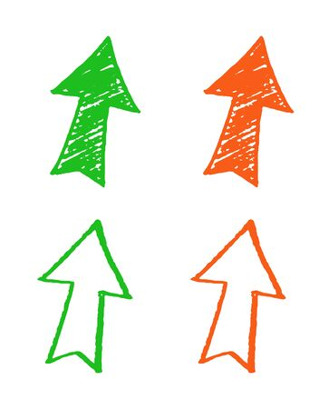 Hand drawn arrow icon set 向量圖像