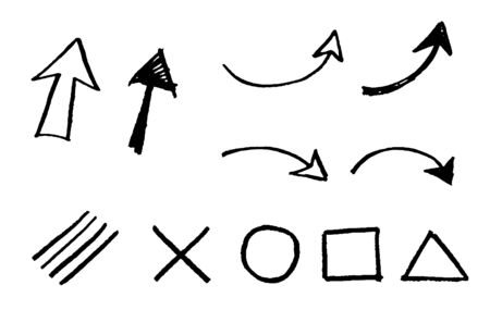 Hand drawn arrow and symbol set