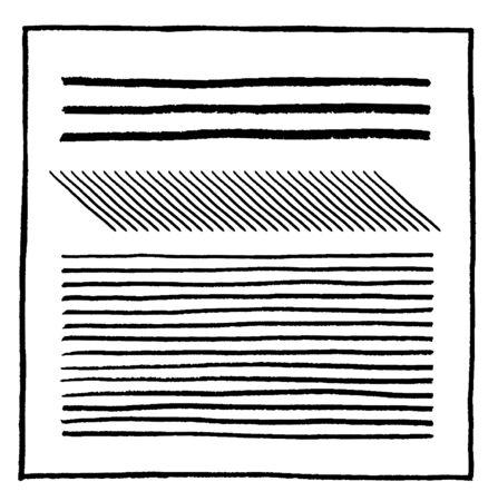 Hand drawn border lines set  イラスト・ベクター素材