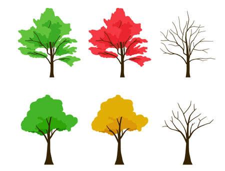Various seasonal tree tossets