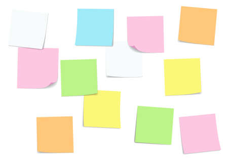 Sticky note and Note paper attached