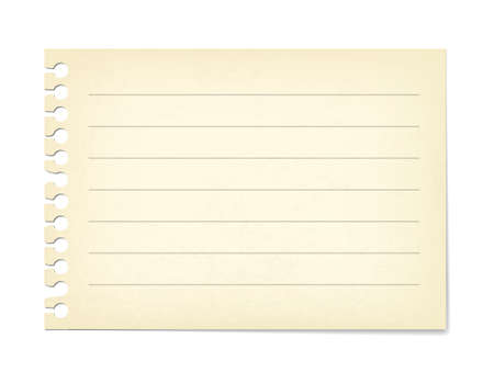 Note paper with ruled lines illustration material