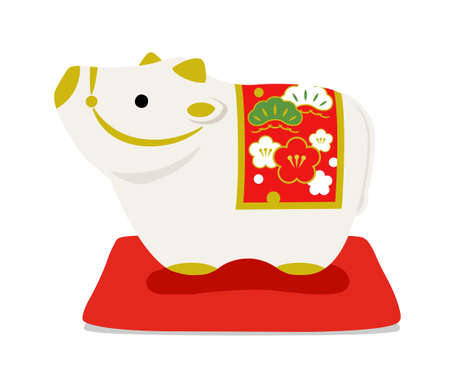 New Year's card material for Ox figurine