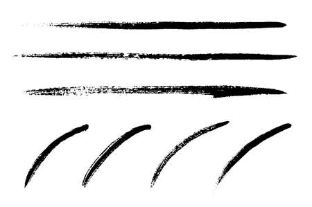 Line material variation set with a brush