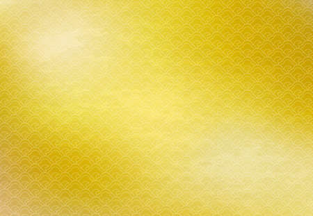Golden Japanese-style celebration background with traditional pattern