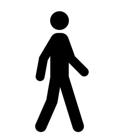 Walking person Public vector icon