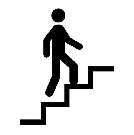 Pictogram of person climbing stairs 向量圖像