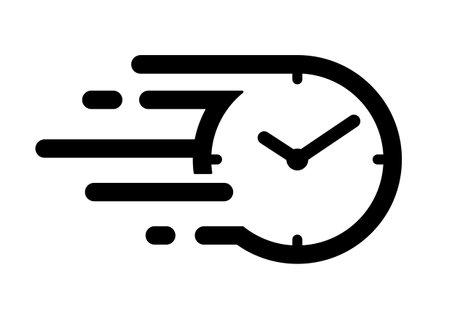 Fast time icon, speedy time flow icon 向量圖像