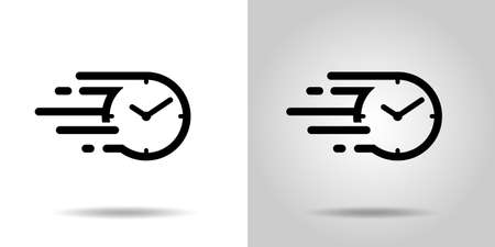 Fast time icon, speedy time flow icon Vectores
