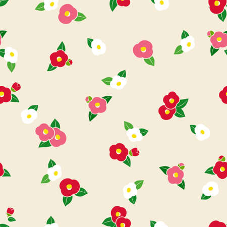 Seamless background pattern of camellia Vectores