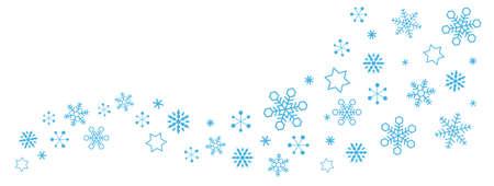 Snow Crystal Flow, Snowflake, wave,material Иллюстрация
