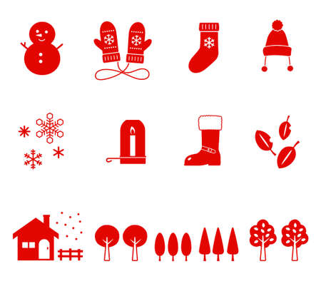 Winter and xmas icon Set -1 Tone